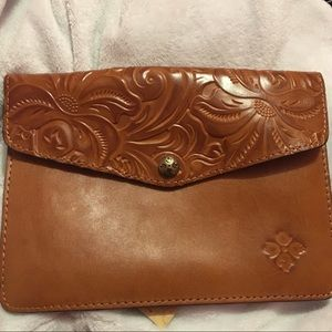 Patricia Nash genuine leather clutch